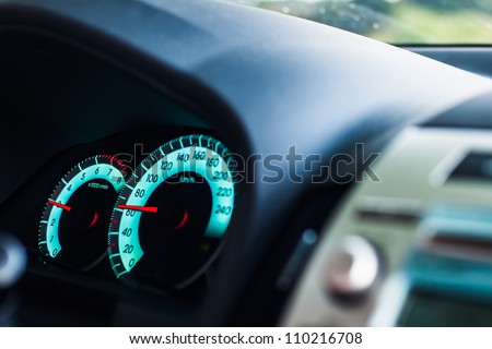 The other side of speed. - stock photo