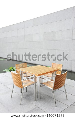 The outdoor coffee table