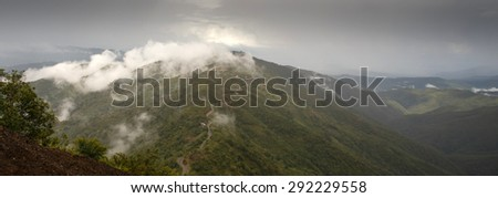 The outskirts of Kalay in the Mountains of Chin State, Myanmar (Burma) - stock photo
