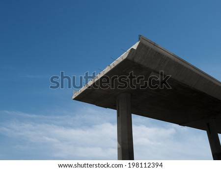 The overpass is being built  - stock photo