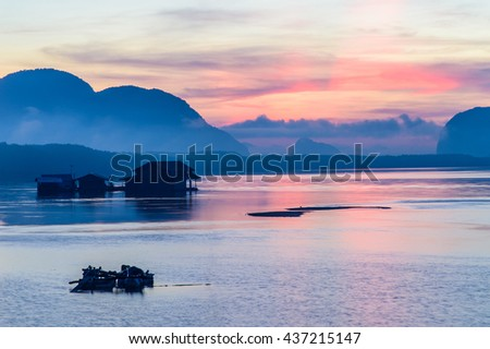 The Oyster Farms at Fisherman village at Samchong-tai, Phang Nga, Thailand