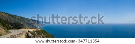 The Pacific Coast Highway is a spectacular coastal drive between Los Angeles and San Francisco - stock photo