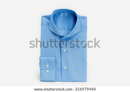 The packed shirt isolated on white background.