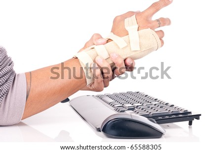 The Pain of Carpal Tunnel - stock photo