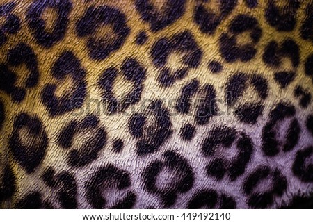 The painted cement floor tiger. - stock photo