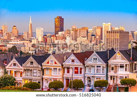The Painted Ladies of San Francisco, California, USA.