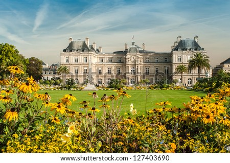 The Palace in the Luxembourg Gardens, Paris, France - stock photo