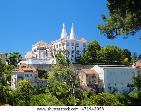 The Palace of Sintra (Palacio Nacional de Sintra), also called Town Palace is located in the town of Sintra, in the Lisbon District of Portugal.