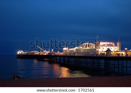The Palace Pier in Brighton UK - stock photo