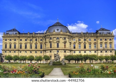 "The palace ""Residenz"" Wuerzburg, Germany"