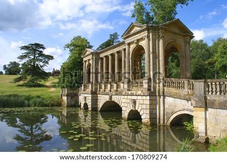 The Palladian Bridge, Stowe, Buckinghamshire, England