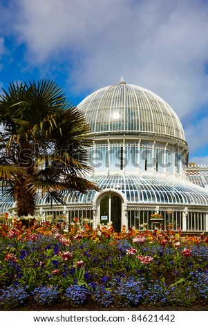 The Palm House in the Belfast Botanic Gardens, Northern Ireland