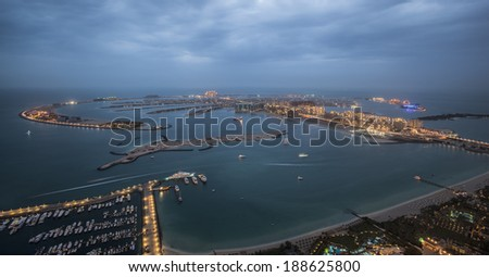 the palm jumeirah - stock photo