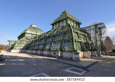 The Palmenhaus Schoenbrunn is a large greenhouse in Wien, Austria