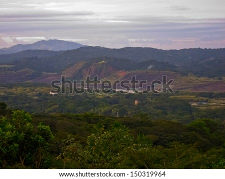 The Panama Canal through the Jungle - stock photo
