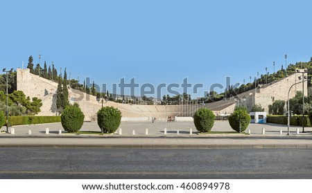 The Panathenaic Stadium (or kallimarmaro, hosted the first modern Olympic Games in 1896)  in Athens, Greece