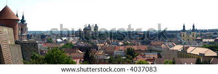 The panorama from Castle of Eger, Hungary