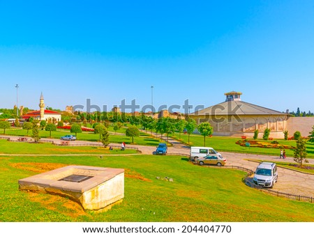 the 1453 panorama museum at Istanbul city in Turkey - stock photo