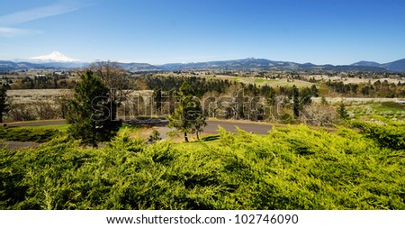 The Panorama point at hood river - stock photo