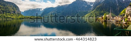 The Panorama view of Hallstatt, Austria