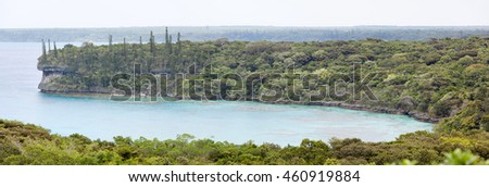 The panoramic view of Lifou island bay (New Caledonia).