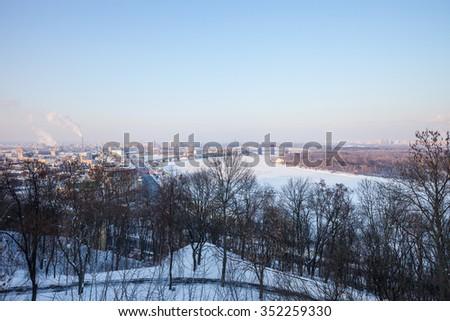 The panoramic view on Trukhanov Island - stock photo