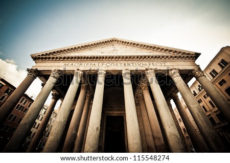 The Pantheon, Rome, Italy - stock photo
