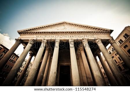 The Pantheon, Rome, Italy - stock photo