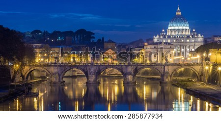 The Papal Basilica of St. Peter in the Vatican - stock photo