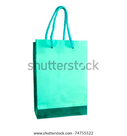 The Paper bag isolated on white background - stock photo