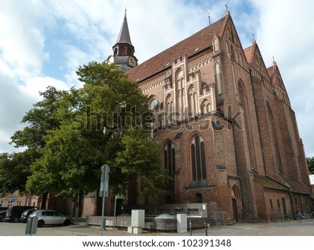 The parish church of St. Mary's Church of the Lutheran parish Güstrow. The community is part of the church district Güstrow the Evangelical Lutheran Church of Mecklenburg - Germany