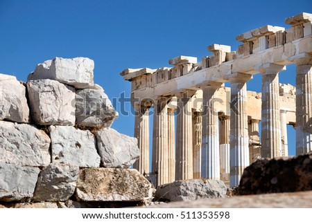 The Parthenon at Acropolis, Athens Greece