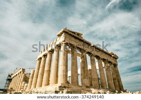 The Parthenon, Athens Greece - stock photo
