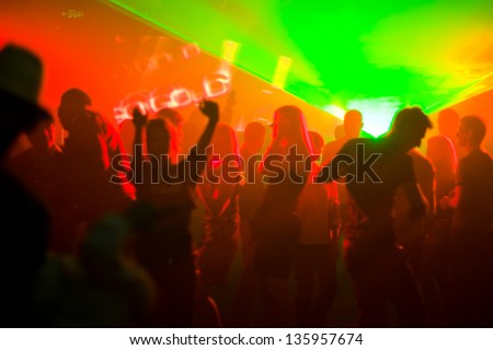 The Party. Disco in the club. - stock photo