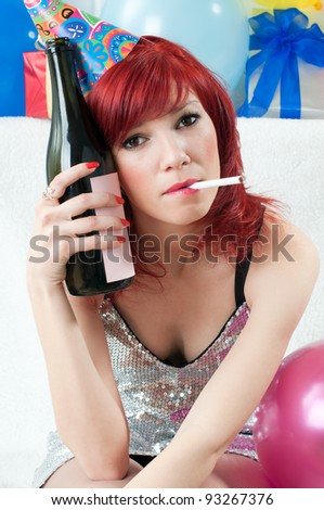 The party is over - stock photo