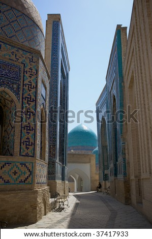 The passage in Shahi Zinda Necropolis - stock photo