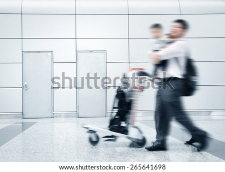 the passenger at the airport - stock photo