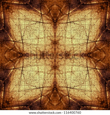 The pattern created from a photo of a spider's web. Abstracts. - stock photo