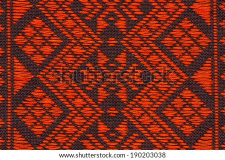 The pattern hand-woven fabrics from Thailand use with background - stock photo