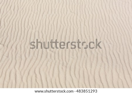 The patterns of yellow sand on Melbourne city beach (Victoria).