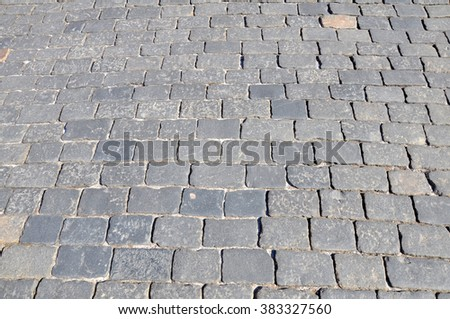 The paving stones - stock photo