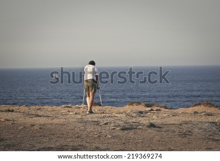 The peace of the seaside - stock photo