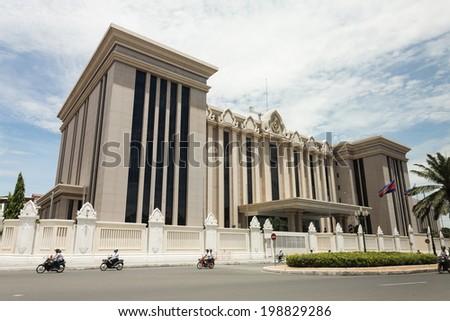 Peace Palace Building Phnom Penh Cambodia Stock Photo Royalty Free