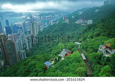 The Peak in Hong Kong - stock photo
