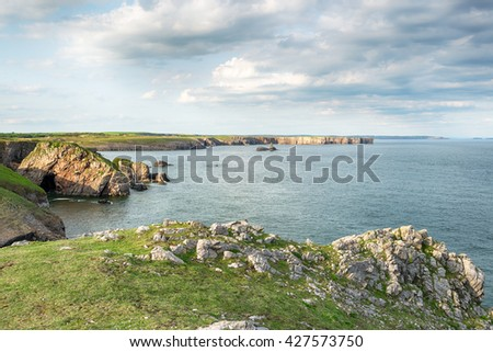 The Pembrokeshire coast path near Stackpole in Wales