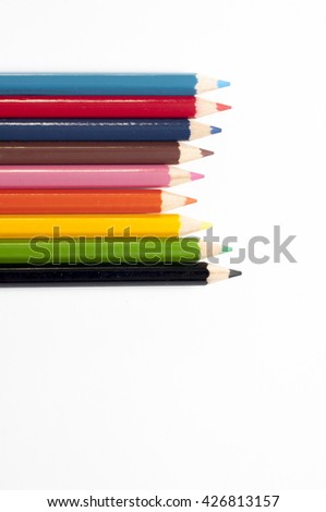 the pencil color over white background.