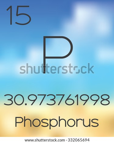 The Periodic Table of the Elements Phosphorus - stock photo