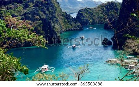 The Philippine coron island - stock photo