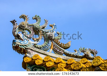 The Phoenix on roof in bang-pa-in palace