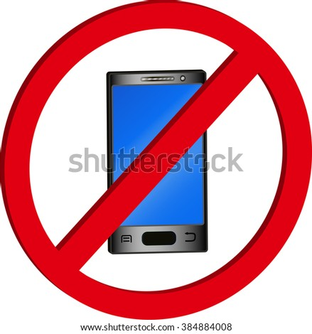the phone is forbidden, black touchscreen phone and blue screen